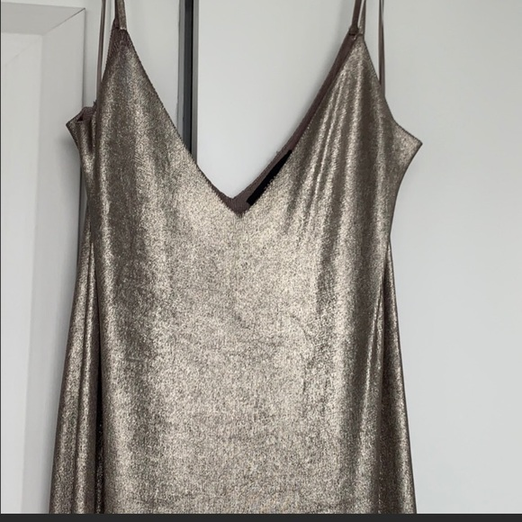 Gold Zara dress